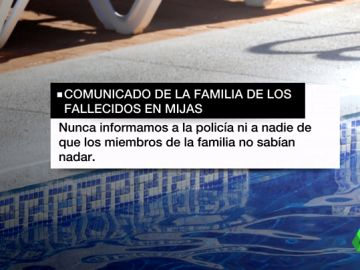 La familia de los tres fallecidos en una piscina de Mijas asegura que todos sabían nadar