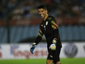 Luis Suárez, sonriente