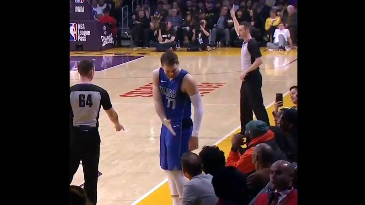 Luka Doncic, en un partido de NBA