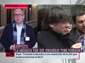 Boye, abogado de Puigdemont, en Al Rojo Vivo
