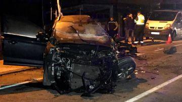 Imagen de un accidente de tráfico en Gondomar (Pontevedra)