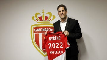 Robert Moreno, con el AS Mónaco