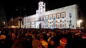 Celebración de las 'preuvas' en la Puerta del Sol (Archivo)