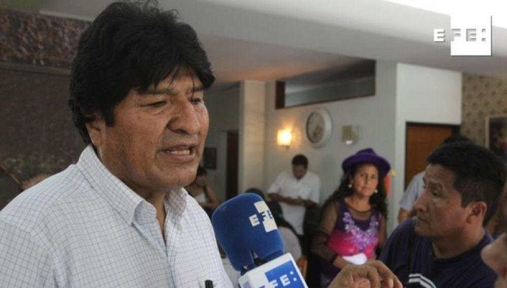 Evo Morales, en declaraciones a Efe