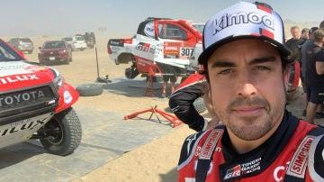 Fernando Alonso, en el Dakar