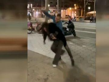 Salvaje agresión machista en Barcelona