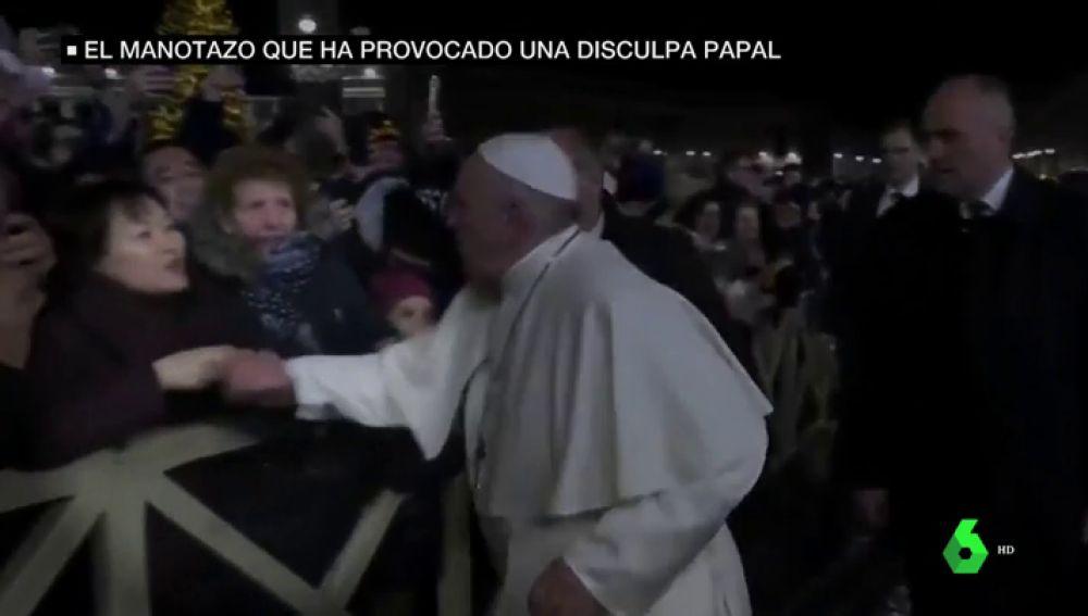 Manotazo que ha provocado una disculpa papal