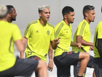 Reinier, entrenando con el Flamengo
