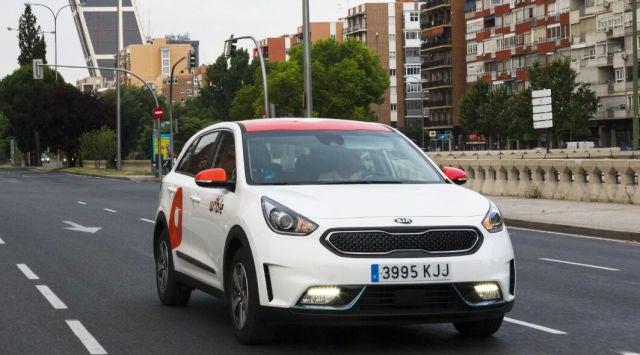 Wible es una de las empresas de 'car sharing' presentes en Madrid