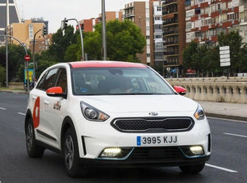 Wible es una de las empresas de 'car sharing' presentes en Madrid