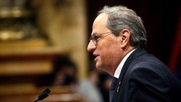 El presidente de la Generalitat, Quim Torra