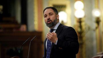 Santiago Abascal, presidente de Vox, en el Congreso de los Diputados