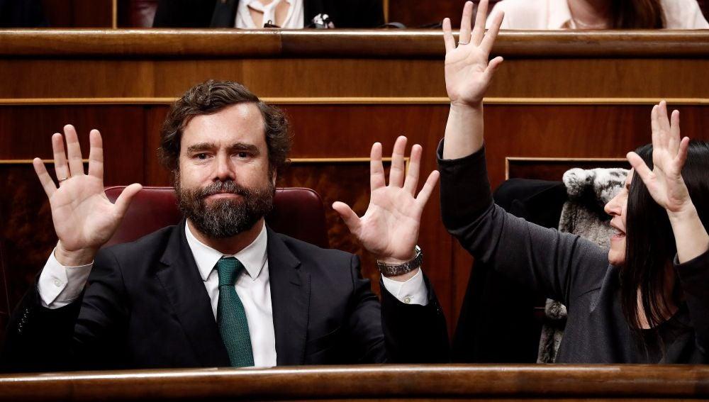Espinosa de los Monteros durante el discurso de EH Bildu