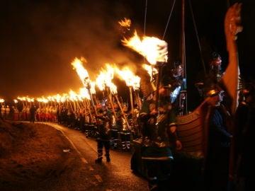 Fiesta vikinga en Escocia
