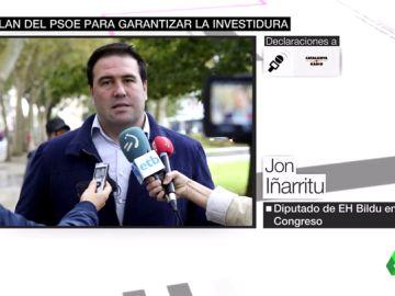 """El diputado de Bildu Jon Iñárritu confirma un """"plan 'anti-tamayazo'"""" para garantizar la investidura de Sánchez"""