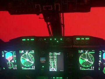 Una gran mancha roja vista desde el cielo: la imagen de terror en los incendios de Australia