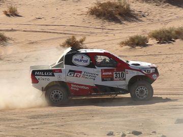 El argentino Terranova, nuevo líder del Dakar en una etapa ganada por De Villiers