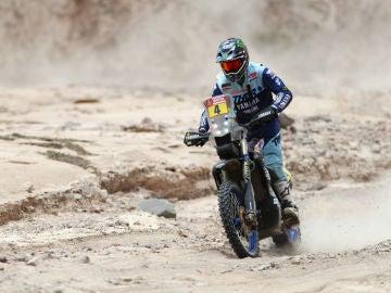 Adrien van Beveren, en una etapa del Dakar