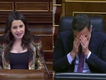 Inés Arrimadas y Pedro Sánchez