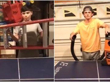 La viral partida de Ping Pong