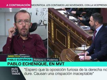 """Pablo Echenique: """"Espero que la oposición furiosa de la derecha no dure"""""""