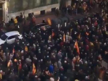 La imagen de la manifestación a su paso por la calle Goya, en Madrid