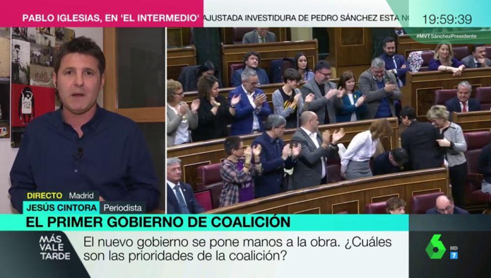 """Jesús Cintora: """"El Gobierno de coalición parte de entrada con la primera victoria en modales y educación"""""""