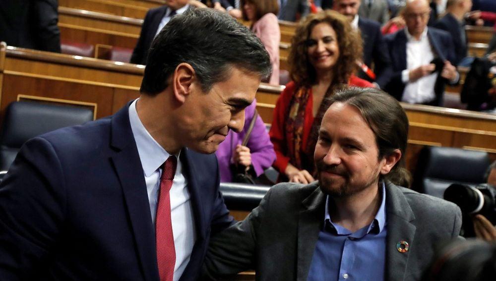 Pedro Sánchez y Pablo Iglesias (Archivo)