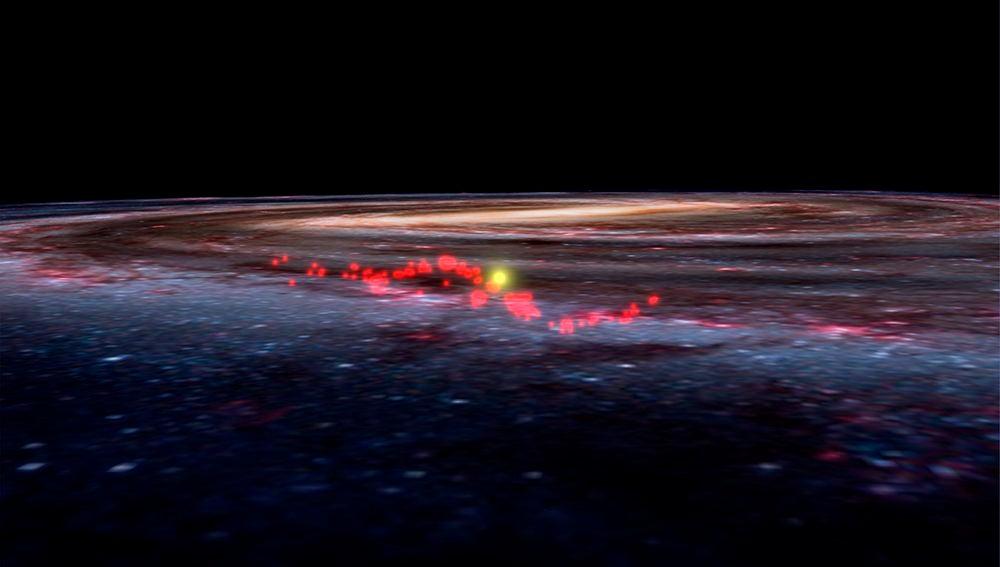 Descubierta una onda de viveros de estrellas en nuestro entorno galactico