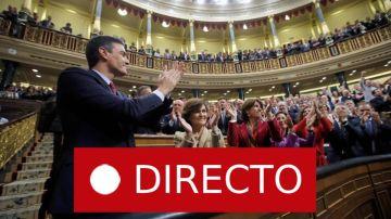 Investidura: Pedro Sánchez presidente del Gobierno, en directo   Última hora de la investidura