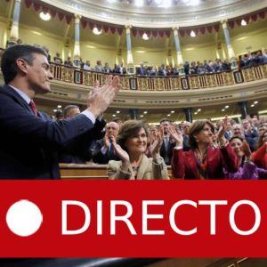 Investidura: Pedro Sánchez presidente del Gobierno, en directo | Última hora de la investidura