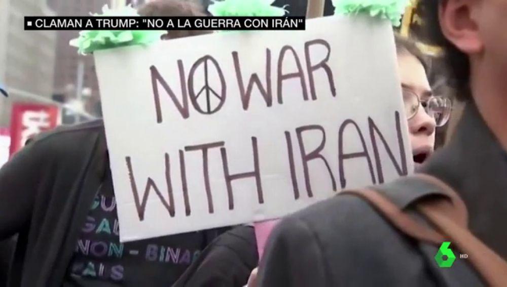 El 'no a la guerra' retumba en todo EEUU: manifestantes claman a Trump para que frene sus ataques a Irán