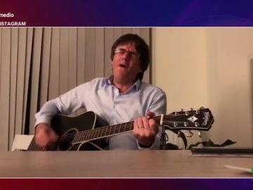 """El vídeo que demuestra el verdadero talento de Puigdemont: """"¡Qué lástima! Podría haber representado a España en Eurovisión"""""""