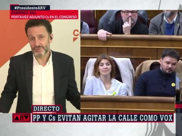 """Edmundo Bal (Cs): """"Nosotros no nos dedicamos a rodear el Congreso cuando no nos gusta el Gobierno que se ha formado"""""""
