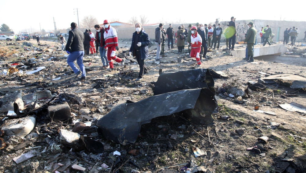 Accidente de avión Irán