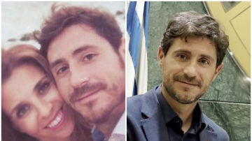 Víctor Sánchez del Amo, con su mujer