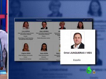 """Europa da """"donde más duele"""" a Junqueras en su presentación oficial: """"Sólo les falta poner al lado una bandera con el toro"""""""