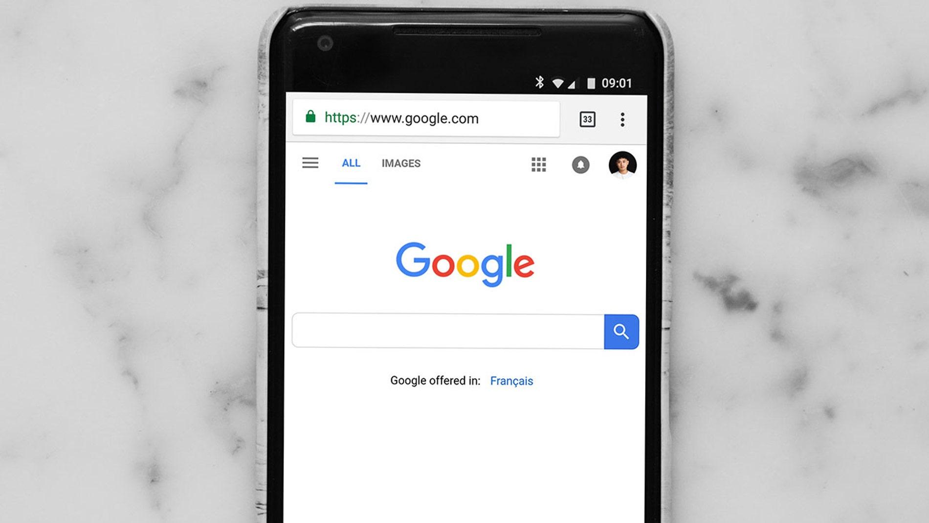 Google en un smartphone