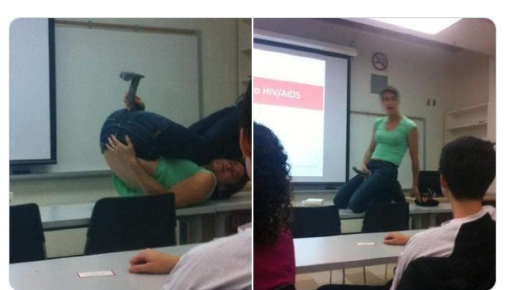 Las imágenes de un taller universitario sacadas de contexto para defender el veto parental de Vox