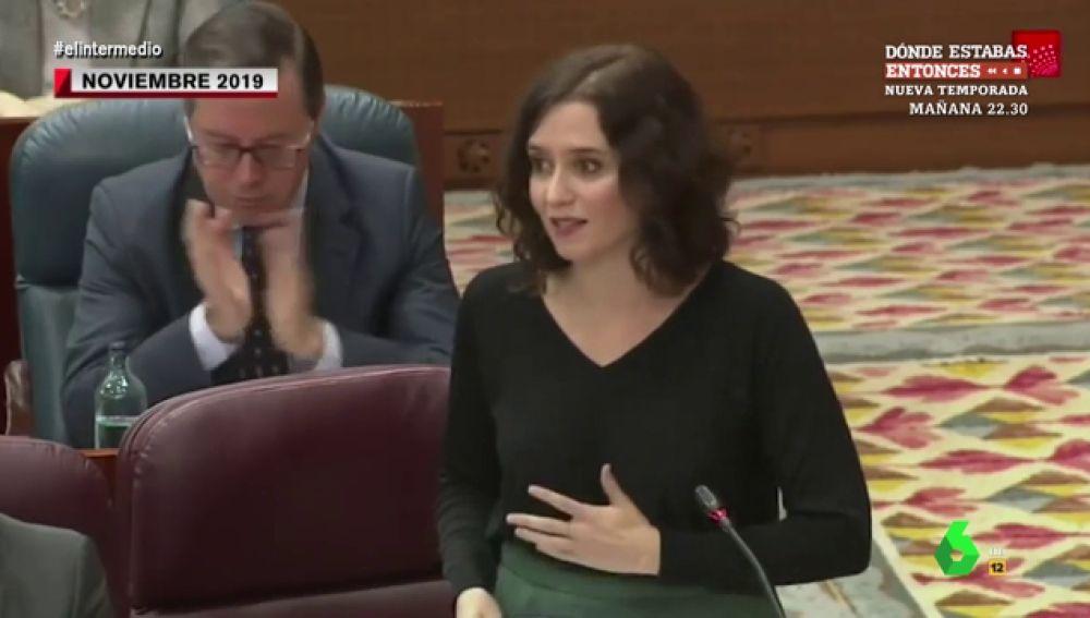 La Hemeroteca pone contra las cuerdas la defensa del PP al veto parental: así lo criticaba Ayuso frente a Monasterio