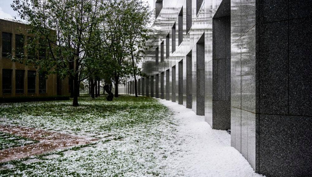 Granizada en Canberra, Australia