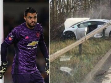Sergio Romero sufre un accidente de tráfico