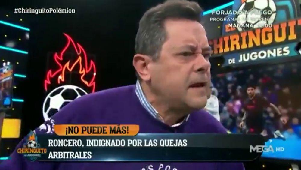 """Tomás Roncero explota contra Monchi: """"Como somos el Real Madrid somos los peores, los ricos, los del poder..."""""""