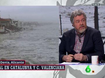 """López de Uralde, ante los destrozos por la borrasca 'Gloria': """"Es la confirmación de que el cambio climático está aquí"""""""