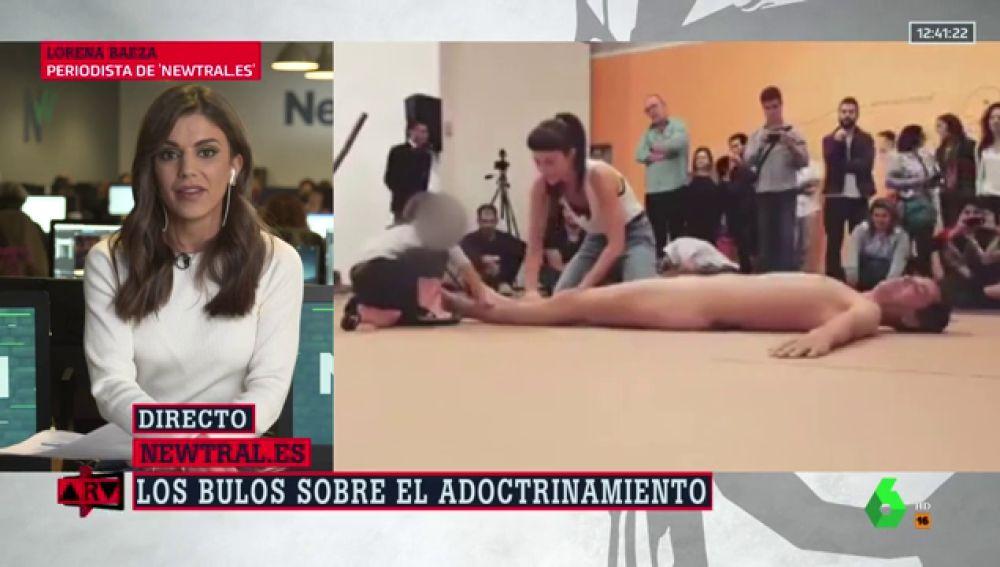Veto parental: no, el vídeo de una niña junto a un hombre desnudo tampoco es en España ni en un colegio