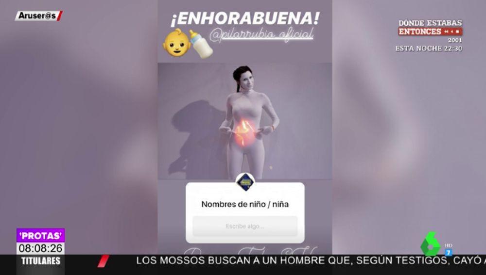 Pilar Rubio confirma emocionada su cuarto embarazo de una forma muy visual en 'El Hormiguero'