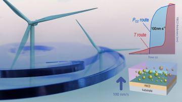 Un crecimiento ultrarrapido de capas superconductoras