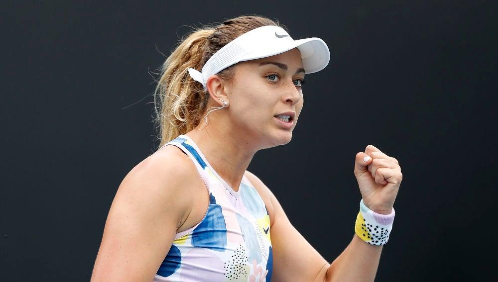 Paula Badosa, en el Open de Australia.