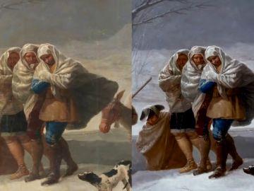 'La Nevada' de Goya recupera el frío y la vida