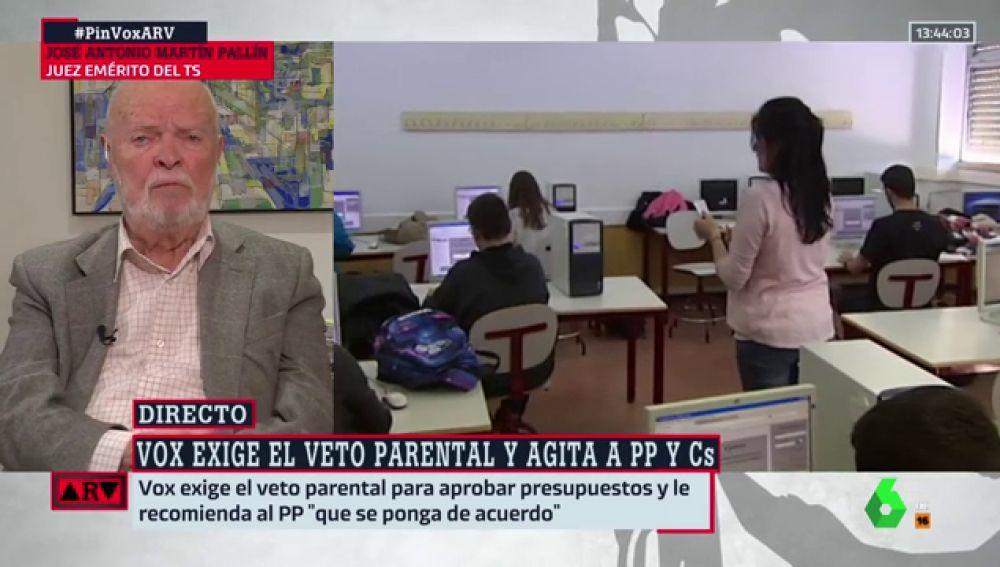"""José Antonio Martín Pallín responde a Vox por su veto parental: """"Deberían leerse la Declaración Universal de Derechos Humanos"""""""